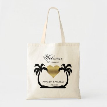 Valentines Themed Personalized WELCOME Wedding Bag Palm Trees Heart