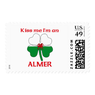 Personalized Welsh Kiss Me I'm Almer Stamp