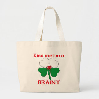 Personalized Welsh Kiss Me I'm Braint Canvas Bag