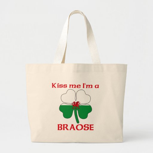 Personalized Welsh Kiss Me I'm Braose Tote Bag
