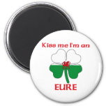 Personalized Welsh Kiss Me I'm Eure Refrigerator Magnet
