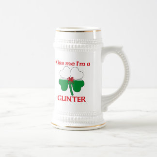 Personalized Welsh Kiss Me I'm Gunter Beer Stein