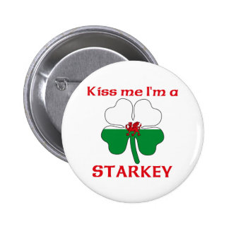Personalized Welsh Kiss Me I'm Starkey Pinback Buttons