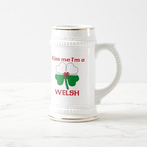 Personalized Welsh Kiss Me I'm Welsh Coffee Mugs