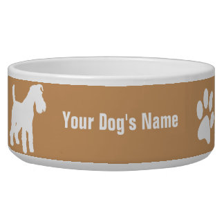 Personalized Welsh Terrier ウェルシュ・テリア Bowl