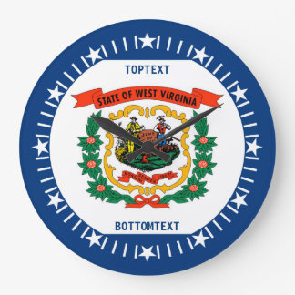 Personalized West Virginia State Flag Design on a Large Clock