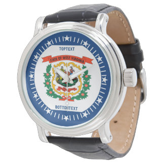Personalized West Virginia State Flag Design Wristwatch