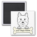Personalized Westie 2 Inch Square Magnet