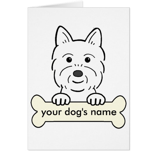 Personalized Westie Card