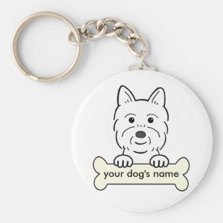 Personalized Westie Keychain