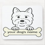 Personalized Westie Mouse Pad