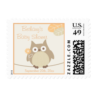 Personalized Whimsical Gender Neutral Baby Shower Postage Stamp