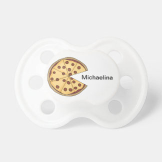 Personalized Whimsical Italian Pizza Pacifier BooginHead Pacifier