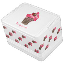 Personalized Whimsy Pink Cupcake Cooler