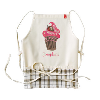 Personalized Whimsy Pink Cupcake heart Apron