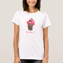 Personalized Whimsy Pink Cupcake tshirt