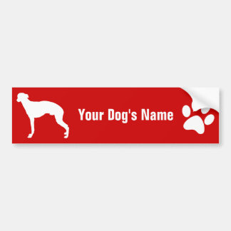 Personalized Whippet ウィペット Car Bumper Sticker