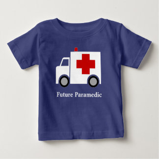 Personalized| White Ambulance | Future Paramedic Baby T-Shirt