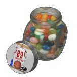 Personalized White and Red Basketball Jersey Jelly Belly Candy Jars