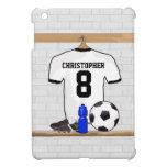 Personalized White | Black Football Soccer Jersey iPad Mini Case