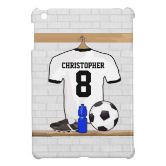 Personalized White | Black Football Soccer Jersey iPad Mini Case