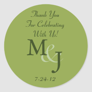 Personalized White Daisy Wedding Favor Labels Classic Round Sticker