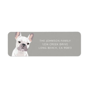 Personalized White French Bulldog Label
