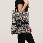 Personalized White & Gold Tote Bag