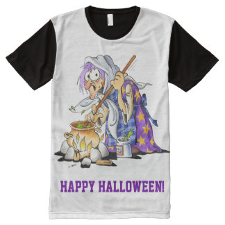 Personalized White Happy Halloween T-Shirt For Men