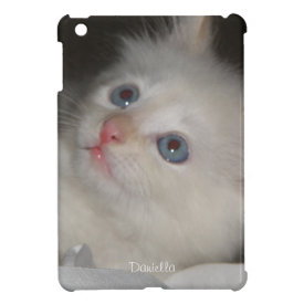 Personalized:White Kitty iPad Mini Case