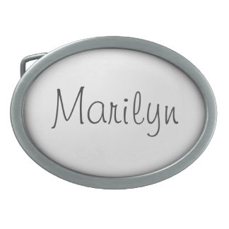 Personalized White Oval Shape Belt Buckles