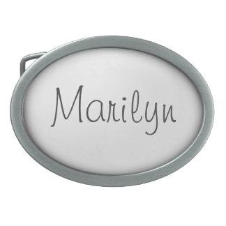 Personalized White Oval Shape Oval Belt Buckle