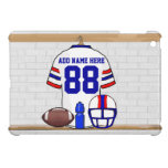 Personalized White Red Blue Football Jersey iPad Mini Case