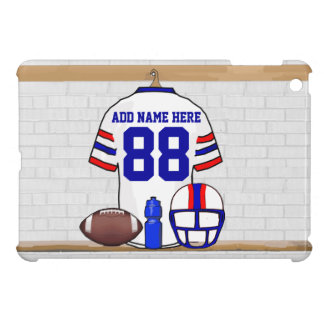 Personalized White Red Blue Football Jersey iPad Mini Covers
