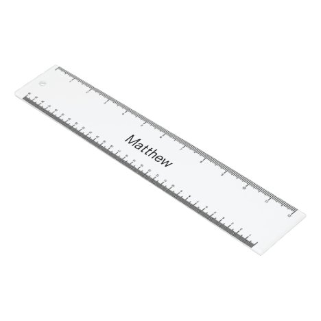Personalized White Ruler