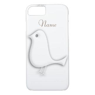 Personalized White Sheer Bird  Case