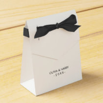 Personalized White Wedding Favor Gift Box