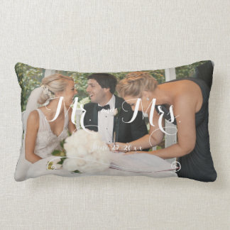 Personalized White Wedding Pillows Add Photo