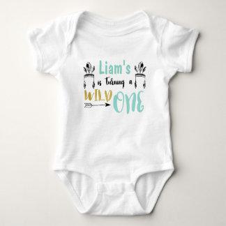 Personalized Wild One Baby Jersey Bodysuit