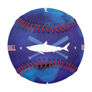 personalized wild shark blue baseball