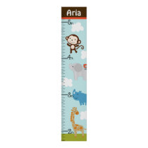 Personalized Wildlife Jungle Animal Growth Chart