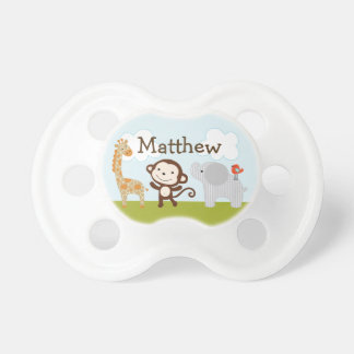 Personalized Wildlife Jungle Animals 2 Pacifier BooginHead Pacifier