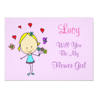 Personalized Will You Be My Flower Girl Card (<em>$2.06</em>)