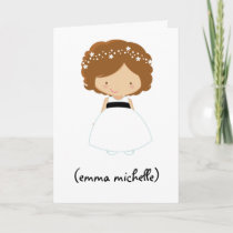 "Personalized ""Will You Be My Flower Girl?"" Card"