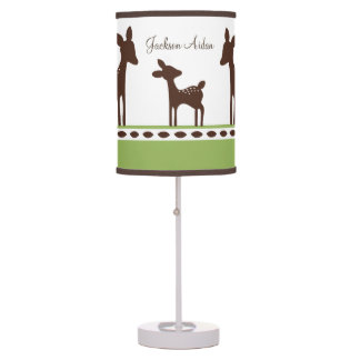 Personalized Willow Deer Family Nursery Lamp