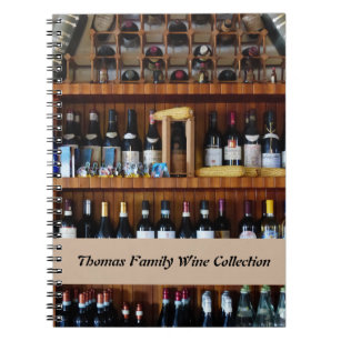 Personalized wine collectors record list journal