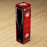 """Personalized Wine Gift Box<br><div class=""""desc"""">This gift box is elegant in every way! Personalize the front with tags for who the gift is from and who it is too. There is even room to add a message in the center! Both sides are adorned with elegant wine glasses while the back has a design that matches...</div>"""
