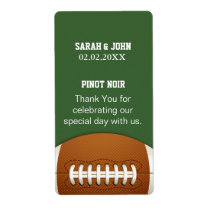 Personalized Wine label  Sports Party football