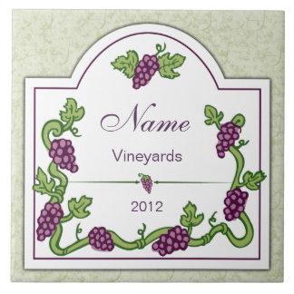 Personalized Wine Large Tile Trivet