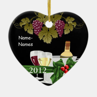 Personalized WINE LOVERS 2012  Holiday ORNAMENT